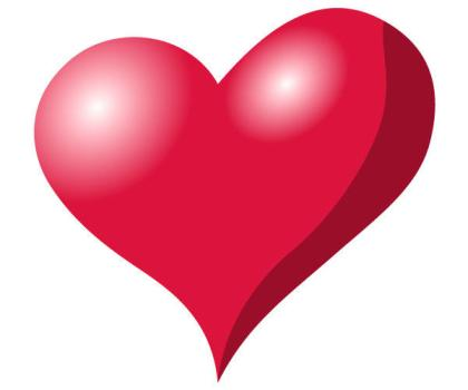 Red Heart Vector Illustration Free