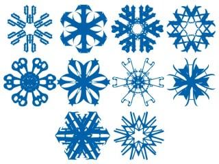 Vector Snowflakes Eps