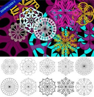 Christmas Decorations Snowflakes Vector