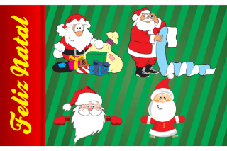 Christmas Design: Santa Claus Vector Images