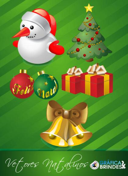 Christmas Vector Pack – Snowman, Tree, Ornaments, Gift Box, Bell