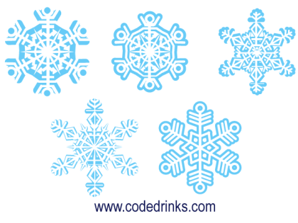 Christmas Snowflakes Illustration