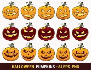 Halloween Pumpkin Jack-O-Lantern Vector Clip Art