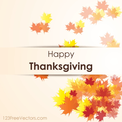 Happy Thanksgiving Day Vector Background
