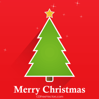 Vector Christmas Tree Greeting Card Design