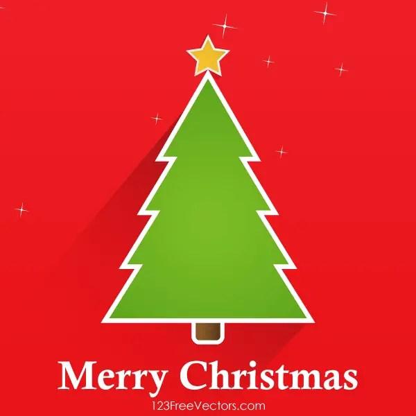Vector Christmas Tree Greeting Card Design