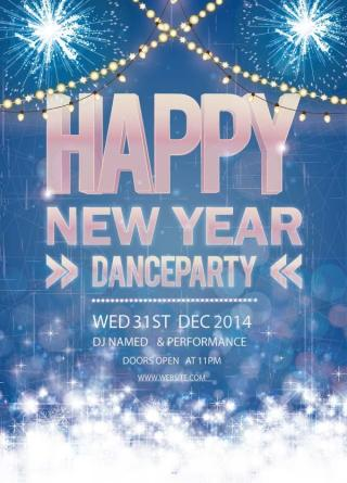 Happy New Year Dance Party Poster