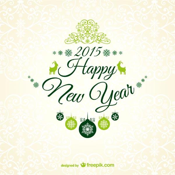 New year 2015 greetings card with floral ornaments 123freevectors new year 2015 greetings card with floral ornaments m4hsunfo