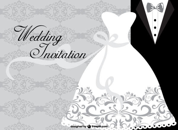 Wedding Dress Card Design Template 123Freevectors