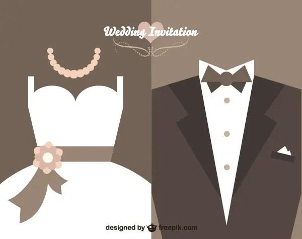 Vector Vine Wedding Invitation Card Design Template