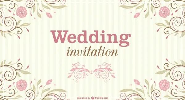 Floral wedding invitation vector template 123freevectors floral wedding invitation vector template stopboris Gallery