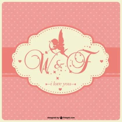 Cupid Silhouette Wedding Invitation Template