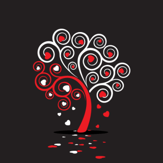 Love Tree Vector with Heart