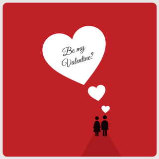 Red Valentine's Day Card Design Vector
