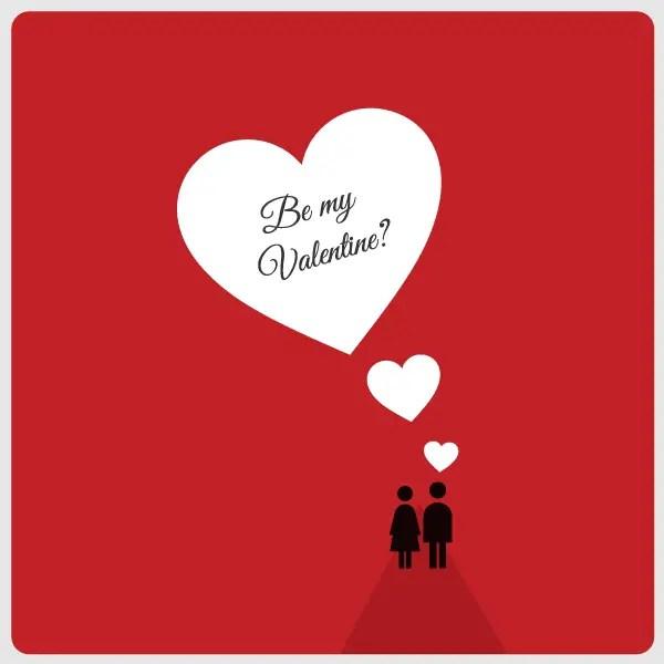 Red Valentine's Day Card Design Vector