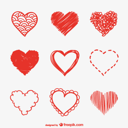Sketch Heart Vector