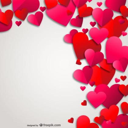 Abstract Background with Love Hearts Valentine Card Vector