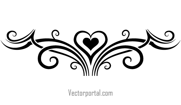 7 Tribal Heart Vectors Download Free Vector Art