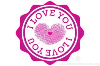 I Love You Sticker Vector