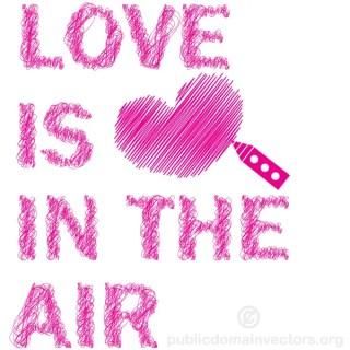 "Scribble Sketch Lines ""Love is in the Air"" Vector Art"