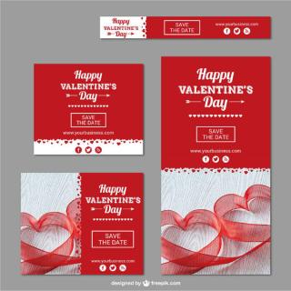 Happy Valentine's Day Banners Vector Pack