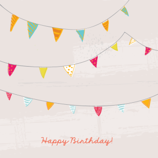 Birthday Bunting Flags Card Template
