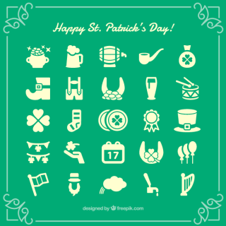 Free St. Patrick's Day Icons Vector Set