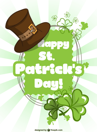 St. Patrick's Day Greeting Card Background Vector