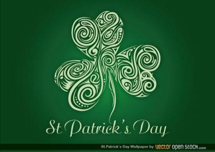 St. Patrick's Wallpaper with Clover Design