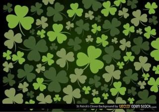 St. Patrick's Day Clover Leaf Background Vector