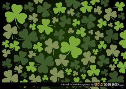 St. Patrick's Day Clover Leaf Background Vector