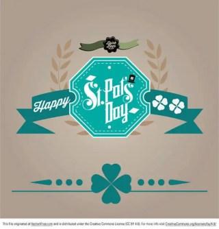 Happy Saint Patrick's Day Card Design Vector