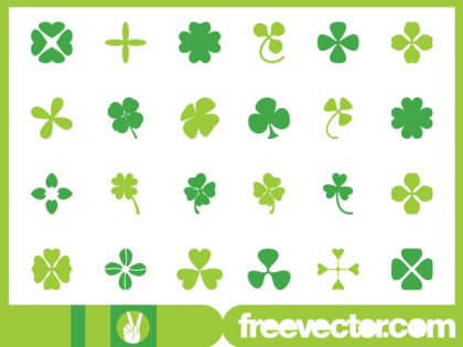 Lucky Clover Leaf Graphic