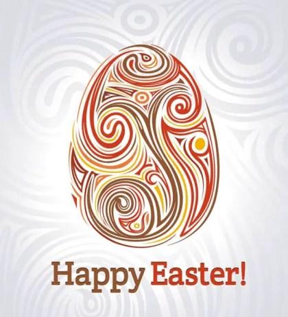Easter Floral Egg vector Background Design