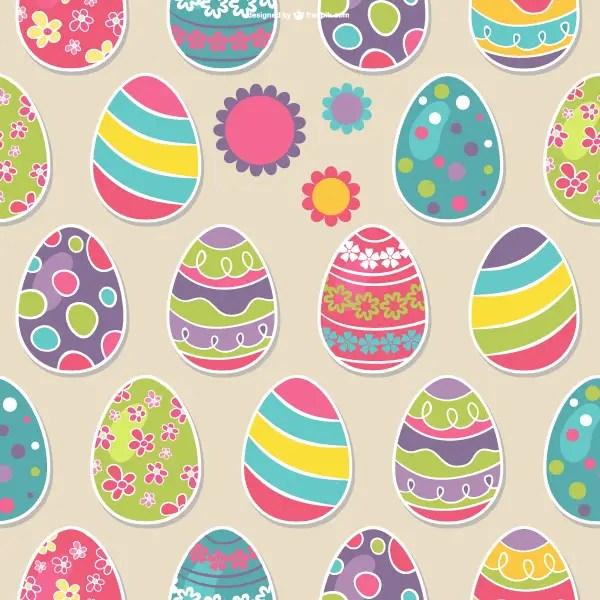 Easter Eggs Seamless Pattern Vector Art