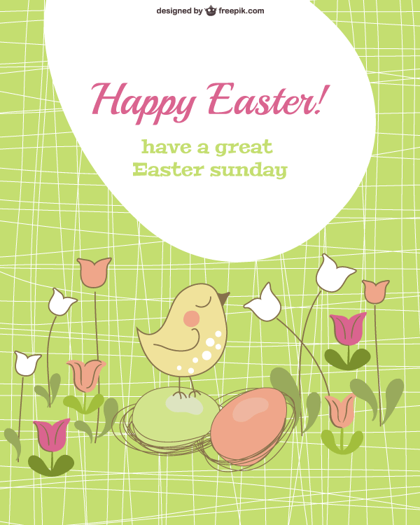 easter card template