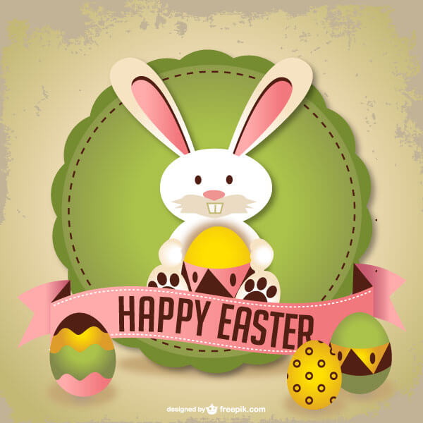 Easter Rabbit Greeting Card Template