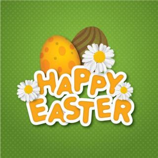 Happy Easter Background Vector Card