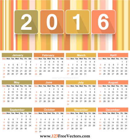 Download 2016 Calendar Template