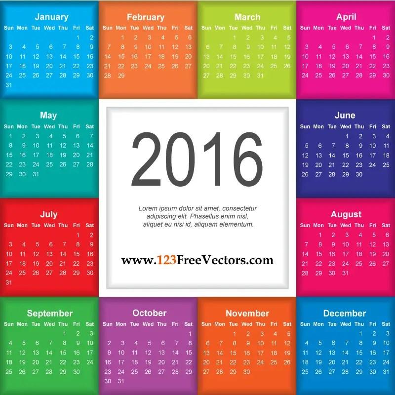 Download Calendar 2016 Free