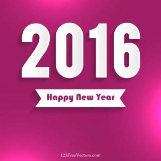 Happy New Year 2016 Vector Free