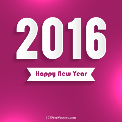 Happy New Year 2016 Vector Free