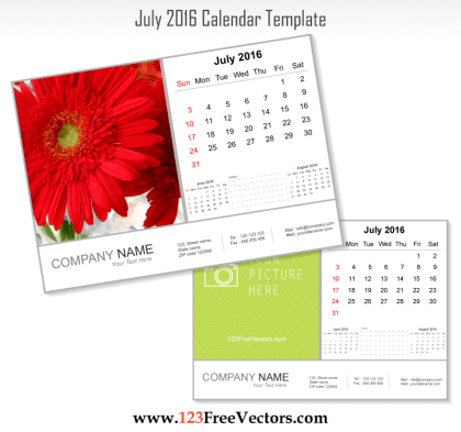 July 2016 Calendar Template