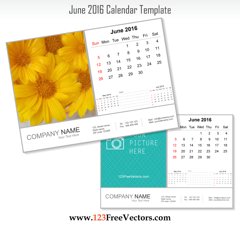June 2016 Calendar Template