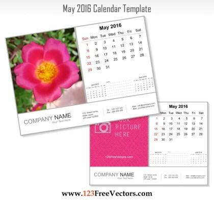 May 2016 Calendar Template
