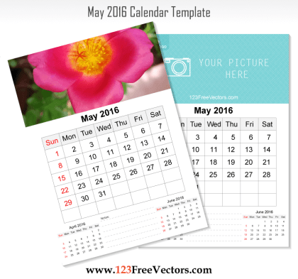 Wall Calendar May 2016