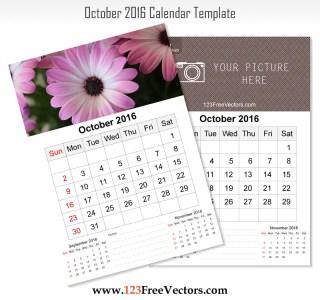 Wall Calendar October 2016