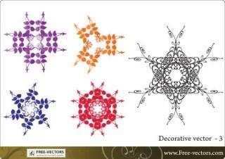 Decorative leaf elements