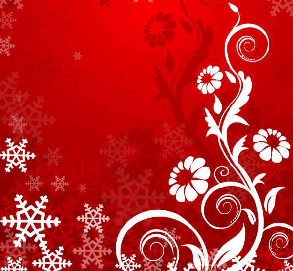 Red Floral Backgrounds Vector