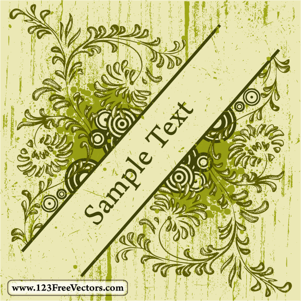 Free Vector Vintage Floral Text Frame | 123Freevectors
